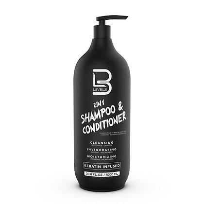 L3VEL3 2-in-1 Shampoo & Conditioner
