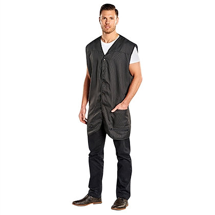 Scalpmaster Pinstripe Oversized Vest with Snap