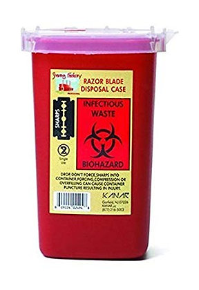 Sharps Blade Disposal Container