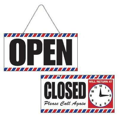 Open/Closed Sign with Clock