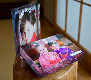 5x7 inch Acrylic Blocks. Table display with big impact!