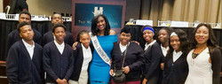 Miss District of Columbia and Maranathan Students