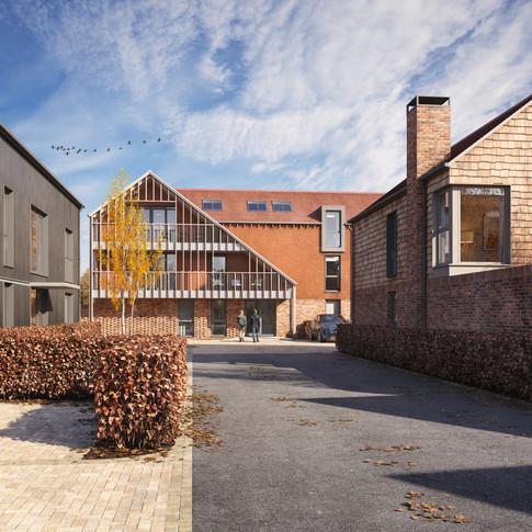 contemporary traditional housing cgi