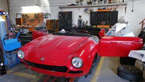 Un altro progetto con un restauro conservativo di una FIAT 124 BS1 Sport Spider 1600 del 1971