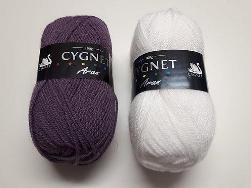 100g Aran Yarn by Cygnet