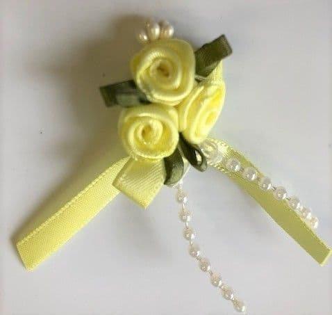 3 Rose Ribbon Bows