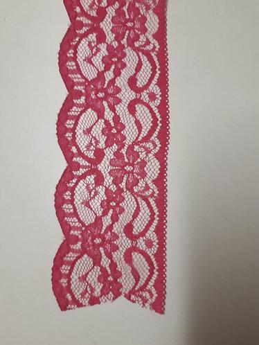60mm Flat Scalloped Edge Nylon Lace