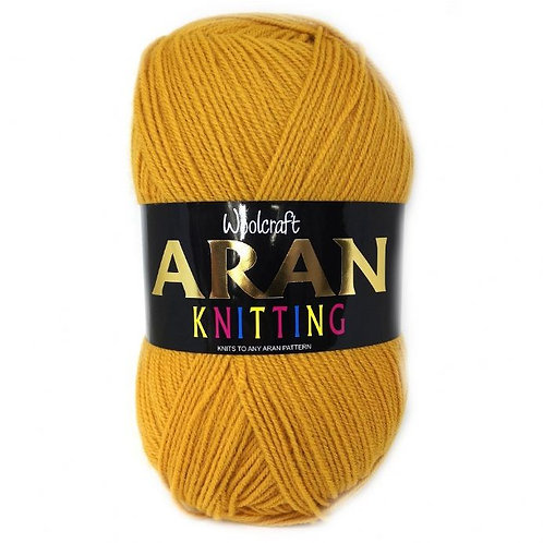 Plain Shades Woolcraft 400g 25% Wool Aran Yarn