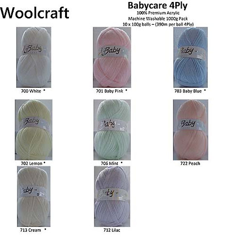 Babycare 4-Ply by Woolcraft