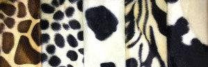 Animal Print Valboa Fabric