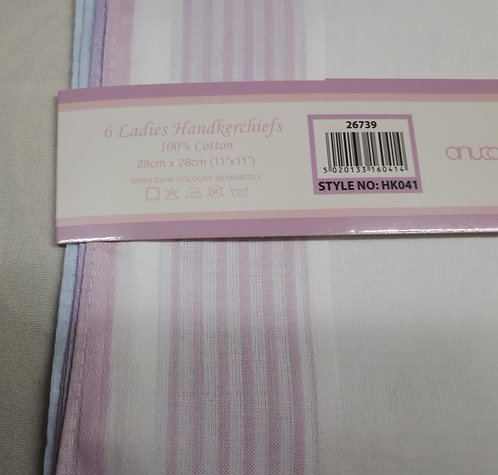 Unisex Coloured Edge Handkerchiefs