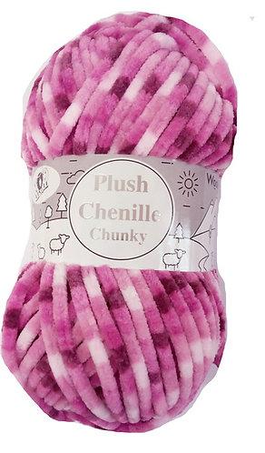 Plush Chenille Chunky Yarn - 100g