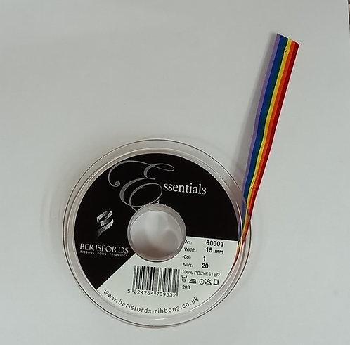 Rainbow Grosgrain Ribbon