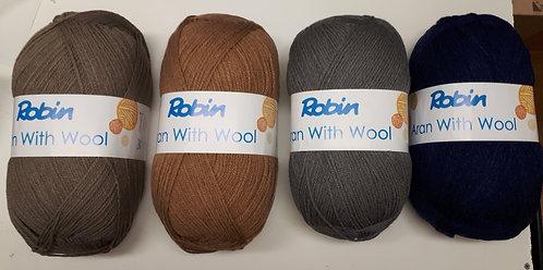 Robin With Wool Aran Yarn