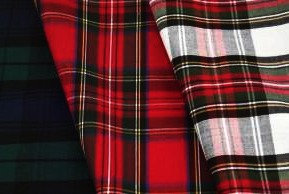 Poly/Cotton Tartan Fabric 1.1m Wide