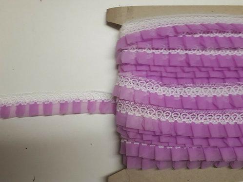 Box Pleat Gathered Lace