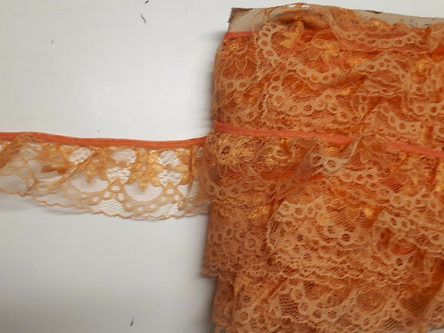 Orange Gathered Lace