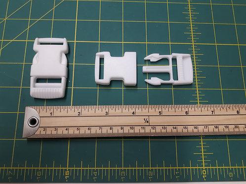 Bum Bag/Rucksack Clips - 25mm White