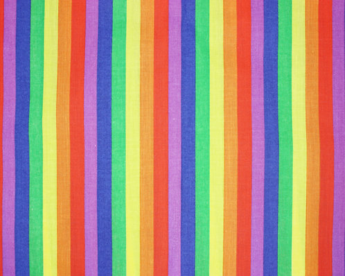 'Pride' Rainbow Polycotton Fabric