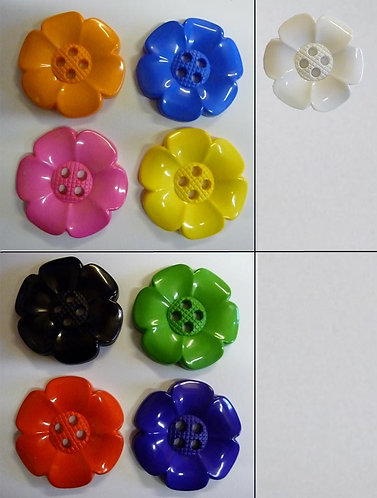 Moulded Flower Button