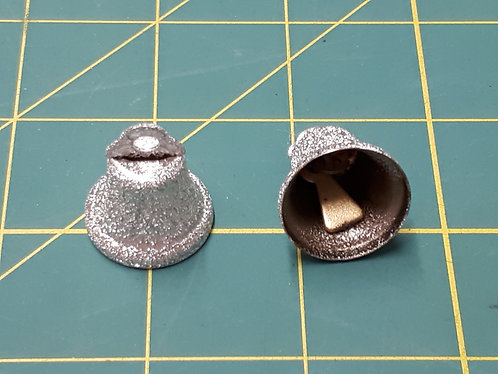 22mm Sparkly Silver Liberty Bells
