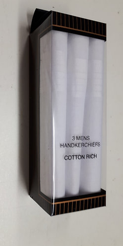100% Cotton White Mens Handkerchiefs