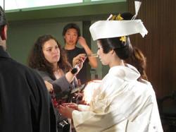Narisa Suzuki Movie set