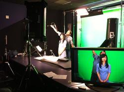 Narisa Suzuki on set