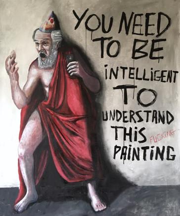 Você precisa ser inteligente para entender esta pintura