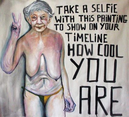 Tire uma selfie com esta pintura para mostrar em sua timeline quanto legal você é