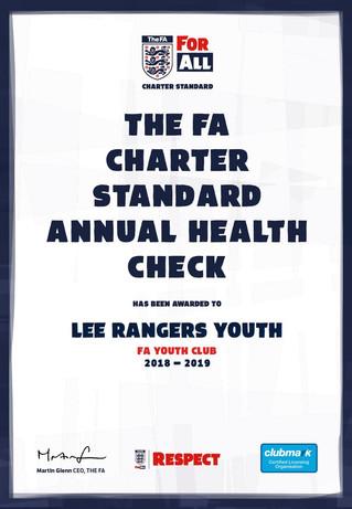 Lee Rangers passes FA Health Check