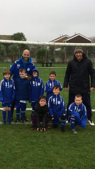 Under 8's brave the wet conditions