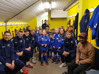 Lee Rangers lucky mascots for Gosport Borough