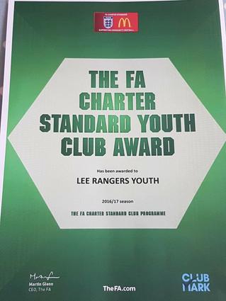 Lee Rangers YFC Retains FA Charter Status
