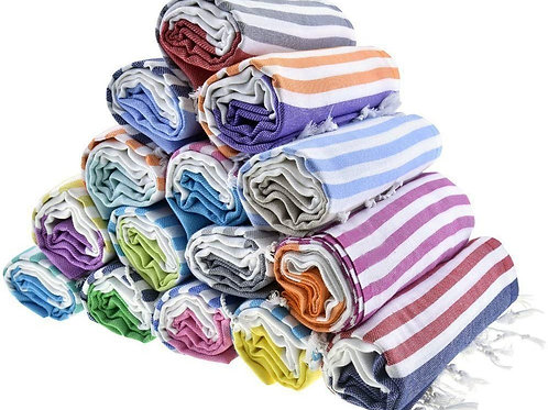 HAVLULAND Sale Set of 6 XXL Turkish Cotton Bath Beach Spa Sauna Hammam Yoga Gym