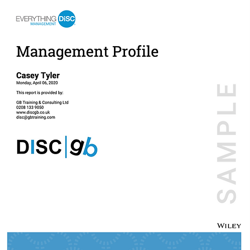 Everything DiSC Management Profile Cover