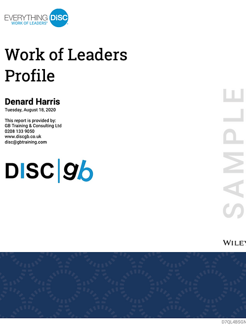 Everything DiSC Work of Leaders Report