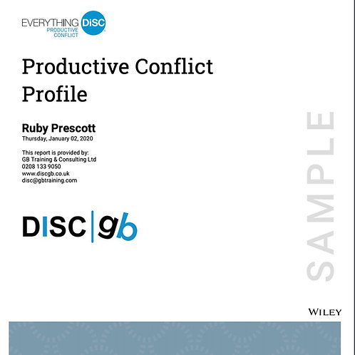 Everything DiSC Productive Conflict Profile Cover