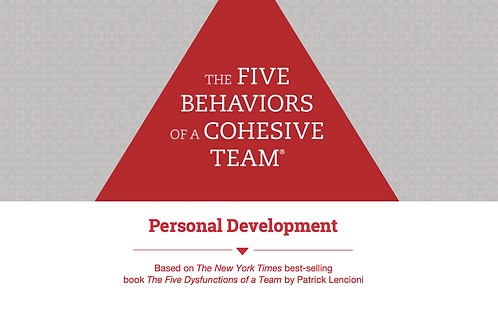 Five Behaviours Personal Development Profile