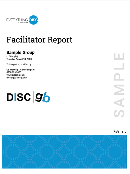 Everything DiSC Facilitator's Report