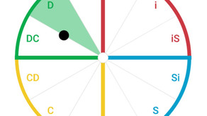 What does the dot in an Everything DiSC assessment tell you?