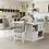 Thumbnail: Furniture of America Transitional White 5-piece Kitchen Island Set