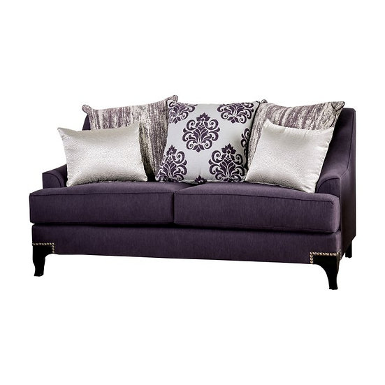 Furniture of America Sisseton T-Cushion Loveseat
