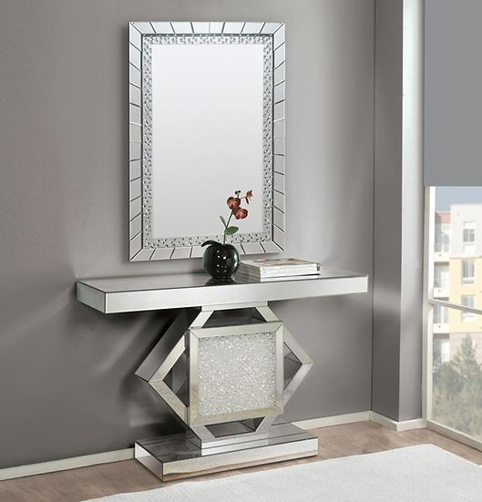 Nowles 2pc console table & wall decor