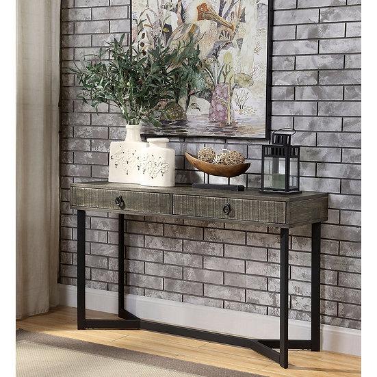 Furniture of America Industrial Oak Solid Wood Side Table