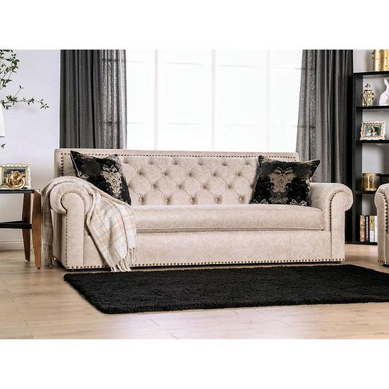 Furniture of America Parshall Greta Tufted Sofa