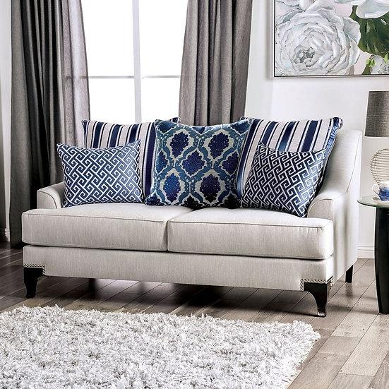 Furniture of America Sisseton T-Cushion Loveseat