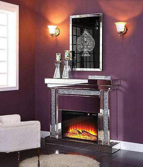 Mirror Glam Fireplace