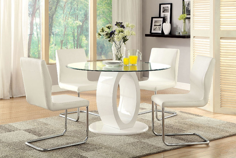 Furniture of America Lodia I 5Pc Dining Table