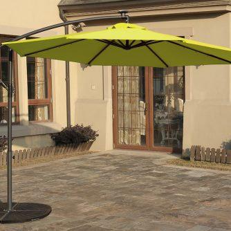 10′ Solar Powered LED Cantilever Umbrella